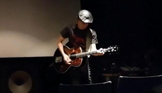 感想10:映画『セブンガールズ』をアップリンク渋谷で鑑賞後は、織田稚成さん(新崎)のアコースティックギター生演奏とシークレットゲストの生唄で主題歌「星がいっぱいでも」。鳥肌もの。 #セブンガールズ