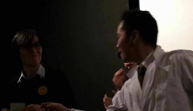 映画「セブンガールズ」 下北沢トリウッド デビッド・宮原さん(監督・脚本) 堀川果奈さん(猫役) 金子透さん(寺庵風太郎) 劇団前方公演墳 2019年2月15日